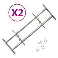 vidaXL Raambeveiligingen verstelbaar 2 st 1000-1500 mm