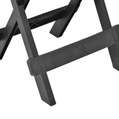 vidaXL Tuintafel inklapbaar 45x43x50 cm kunststof antraciet