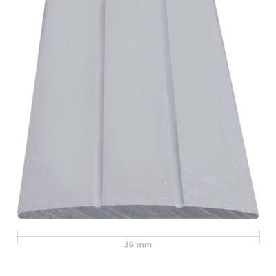 vidaXL Vloerprofielen 5 st 90 cm aluminium zilverkleurig