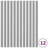 vidaXL Trampolinepaalhoezen 12 st 92,5 cm schuim grijs