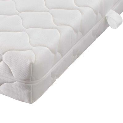 vidaXL Bed met matras kunstleer grijs 120x200 cm