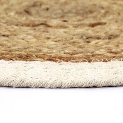 vidaXL Placemats 6 st rond 38 cm jute en katoen natuurlijk