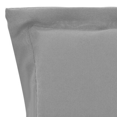 vidaXL Tuinstoelkussens 2 st 100x50x3 cm grijs