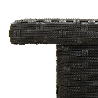 vidaXL Theetafel 50x50x47 cm poly rattan zwart