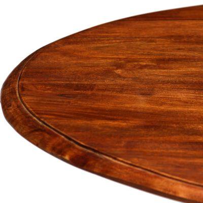 vidaXL Eettafel 80x76 cm massief hout met sheesham afwerking