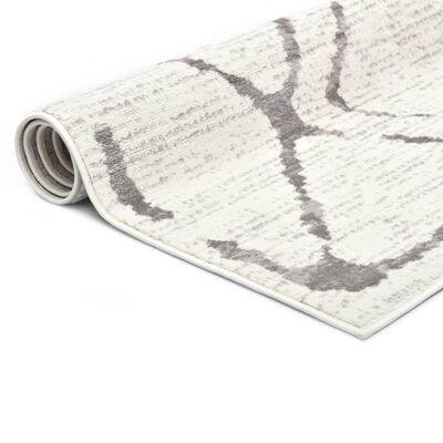 vidaXL Vloerkleed 120x170 cm PP crème en grijs