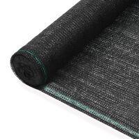 vidaXL Tennisscherm 1,8x25 m HDPE zwart