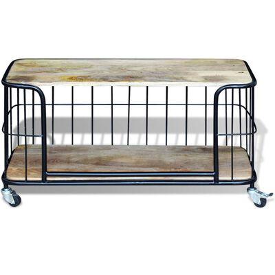 vidaXL Tv-meubel100x40x45 cm massief mangohout