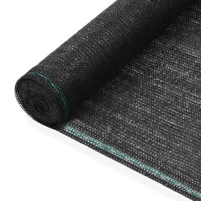 vidaXL Tennisscherm 1,2x100 m HDPE zwart