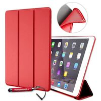 Apple Ipad 9.7 2017/2018 Hoes - Rood - Book Cover Siliconen - Vouwbaar