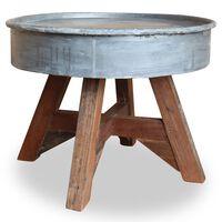 vidaXL Salontafel 60x45 cm gerecycled hout zilver
