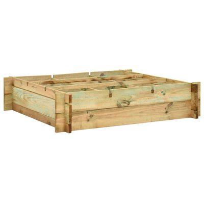 vidaXL Plantenbak verhoogd 90x90x20 cm geïmpregneerd hout