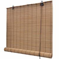 vidaXL Rolgordijn 140x220 cm bamboe bruin