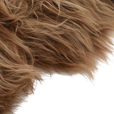 vidaXL Schapenvacht IJslander 70x110 cm bruin