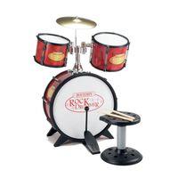Bontempi Drumstel RockDrummer Rood/Zwart 7-delig