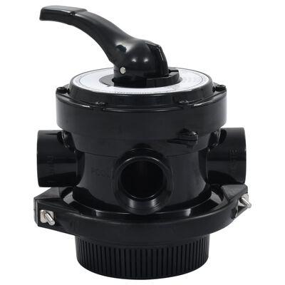 """vidaXL Multipoortventiel voor zandfilter 4-weg 1,5"""" ABS"""