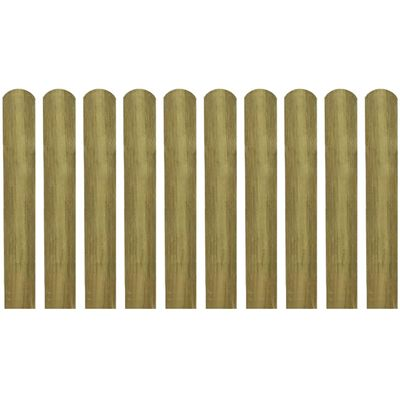 vidaXL Schuttinglatten 10 st 60 cm geïmpregneerd hout