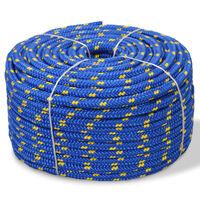 vidaXL Boot touw 8 mm 100 m polypropyleen blauw
