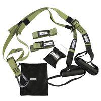 Fruscle® Verstelbare Suspension Trainer TRX Groen met Opbergtas