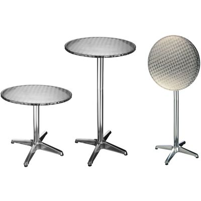 HI Bistrotafel inklapbaar rond 60x60x(58-115) cm aluminium