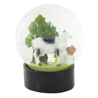 Sneeuwbol | Ø 10*13 cm | Multi | Polyresin / glas | rond | koe |