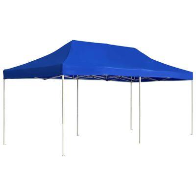 vidaXL Partytent professioneel inklapbaar 6x3 m aluminium blauw