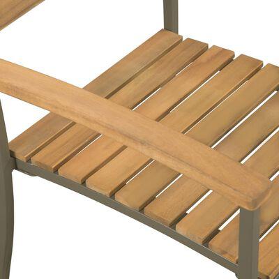 vidaXL Tuinstoelen stapelbaar 2 st massief acaciahout en staal