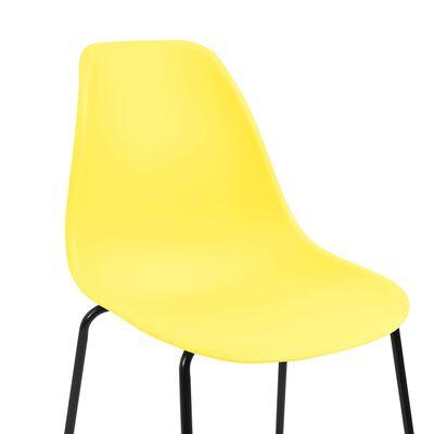 vidaXL Barstoelen 4 st kunststof geel