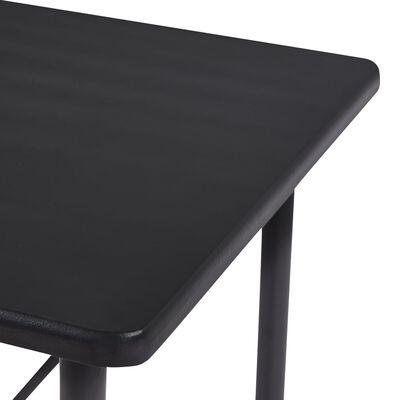 vidaXL Bartafel 120x60x110 cm MDF zwart