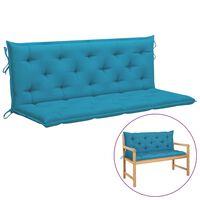 vidaXL Kussen voor schommelstoel 150 cm stof lichtblauw
