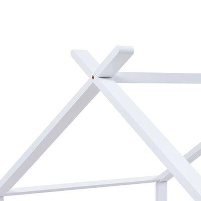 vidaXL Kinderbedframe massief grenenhout wit 90x200 cm