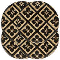 vidaXL Placemats 4 st rond 38 cm jute zwart
