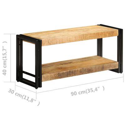vidaXL Tv-meubel 90x30x40 cm massief mangohout