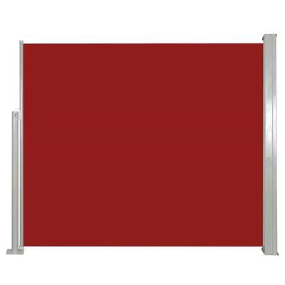 vidaXL Windscherm uittrekbaar 120x300 cm rood
