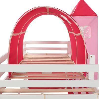 vidaXL Kinderhoogslaper met glijbaan en ladder 208x230 cm grenenhout