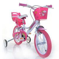"Dino Bikes Kinderfiets Unicorn 16"" roze"