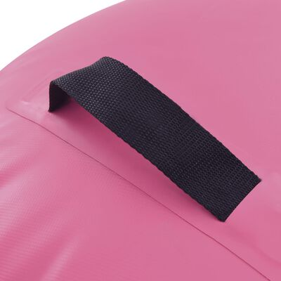 vidaXL Gymnastiekrol met pomp opblaasbaar 120x90 cm PVC roze