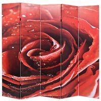vidaXL Kamerscherm inklapbaar roos 200x170 cm rood