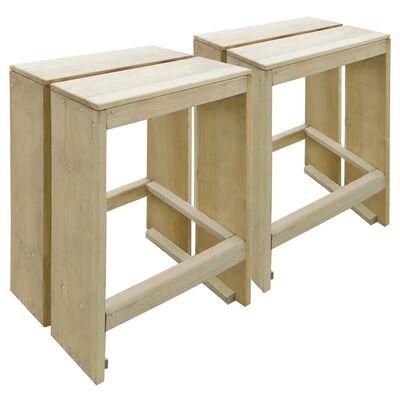vidaXL Tuinbarkrukken 2 st geïmpregneerd grenenhout