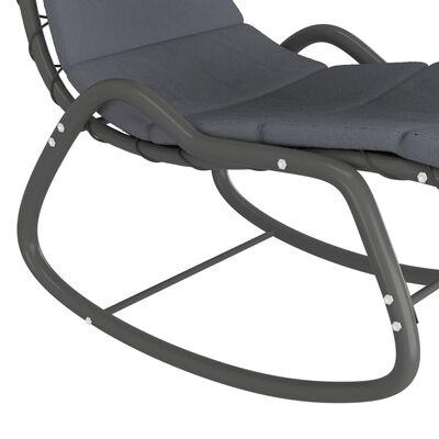vidaXL Tuinschommelstoel 160x80x195 cm stof grijs
