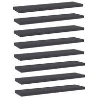 vidaXL Wandschappen 8 st 40x10x1,5 cm spaanplaat grijs