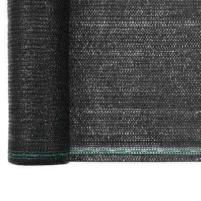 vidaXL Tennisscherm 1x50 m HDPE zwart