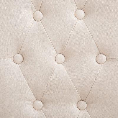 vidaXL Eetkamerstoelen 6 st stof crème