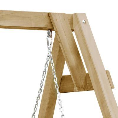 vidaXL Schommelbank 205x150x157 cm geïmpregneerd grenenhout
