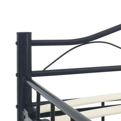 vidaXL Bedframe staal zwart 120x200 cm