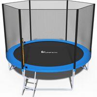 Trampoline - Blauw - 312 Cm - Met Net En Ladder - Tot 120 Kg,