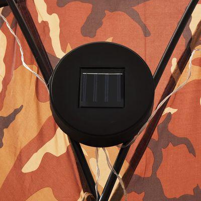 vidaXL Partytent met LED en 4 zijwanden 3,6x3,6x2,3 m camouflage