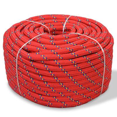 vidaXL Boot touw 12 mm 250 m polypropyleen rood