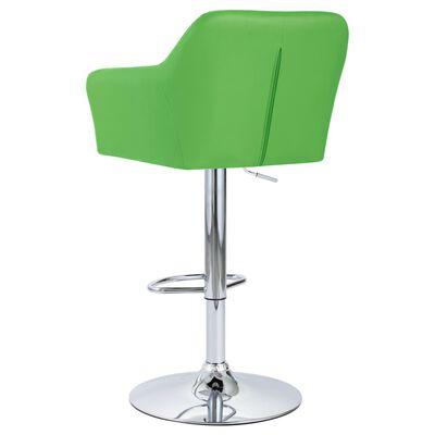 vidaXL Barkrukken 2 st met armleuning kunstleer groen