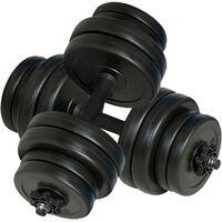 vidaXL Halters 2x15 kg